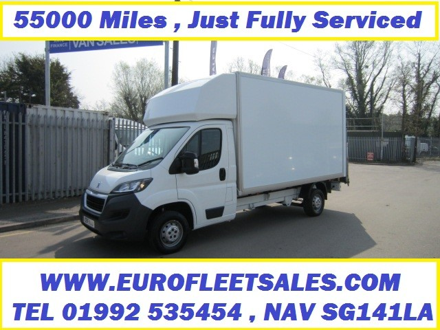 2016 PEUGEOT L3 130PS BOXER LUTON WITH TAIL LIFT