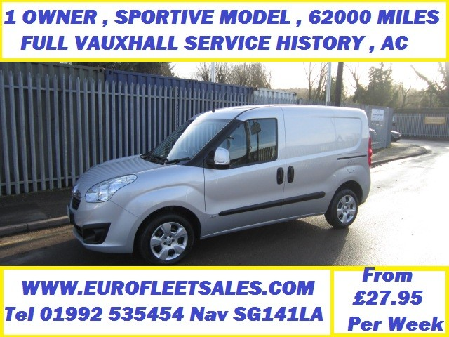 Vauxhall Combo L1 Sportive 62837 Miles