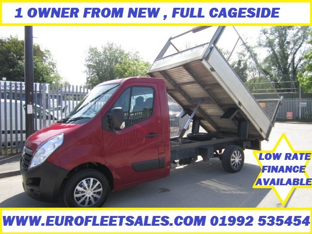 VAUXHALL MOVANO FULL ALLOY CAGE SIDE TIPPER 2013