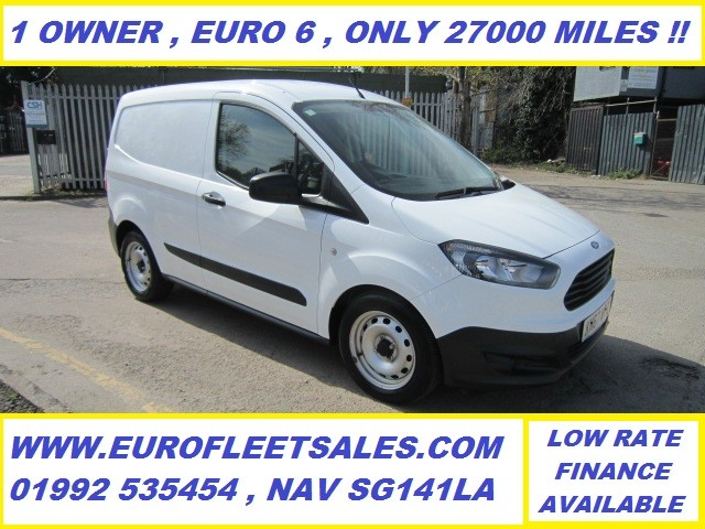 KN67WPZ EURO 6 TRANSIT COURIER + AIR CONDITIONING , 27000 MILES !!