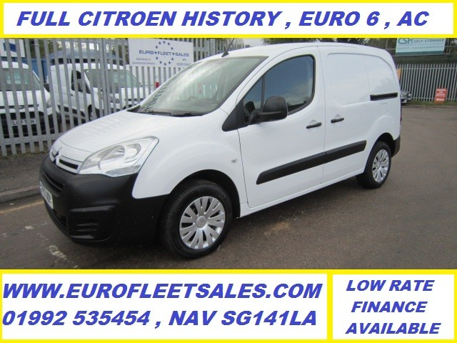 EURO 6 , 2017/17 BERLINGO ENTERPRISE , AIR CON , 3 SEAT , NEW TIMING BELT