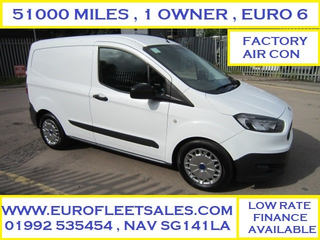 EURO 6 , FORD TRANSIT COURIER + AC , 51000 MILES , FSH , NEW MOT