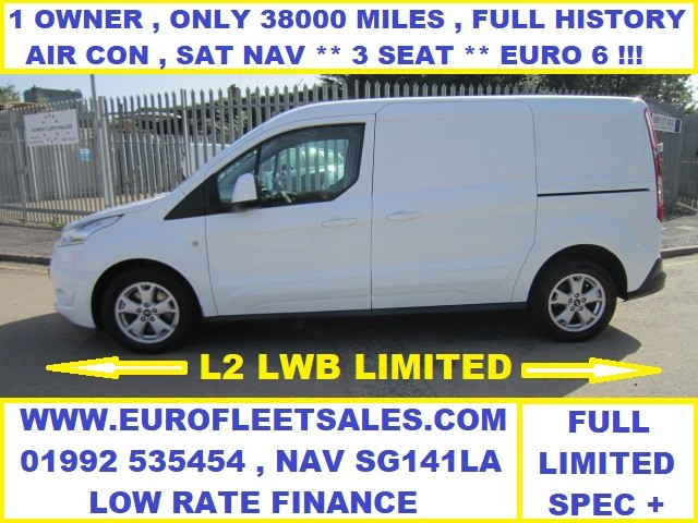 2017/67 TRANSIT CONNECT LWB LIMITED , 120 PS 6 SPEED , EURO 6
