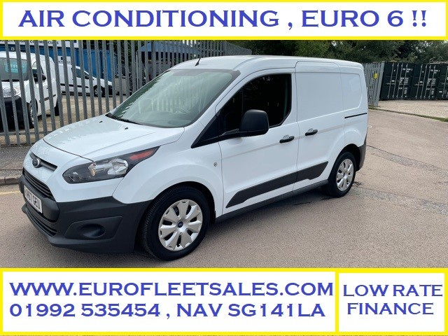 EURO 6 , 2017/67 TRANSIT CONNECT + AIR CONDITIONING , FSH