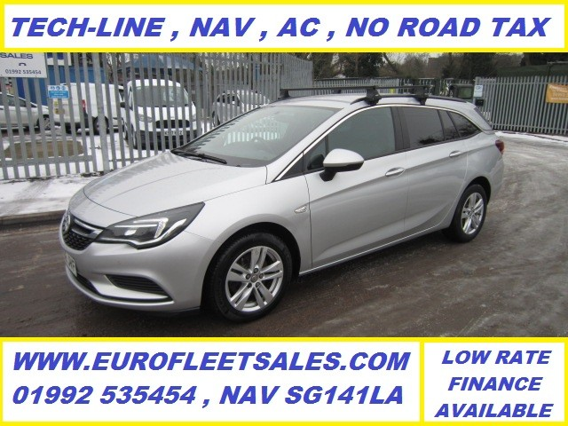 2016/66 ASTRA TECH-LINE SPORTS TOURER ESTATE + NAV , ZERO ROAD TAX , ULEZ COMPLIANT