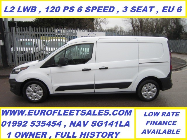 EURO 6 , 2017/17 TRANSIT CONNECT L2 (LWB) 120PS 6 SPEED , 3 SEAT