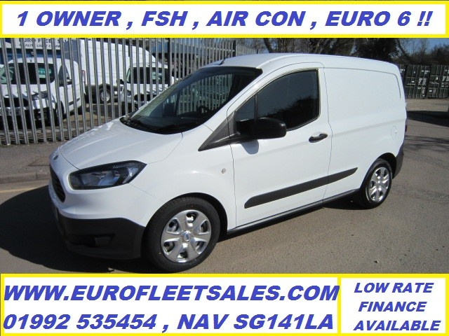 KS17KXX FORD TRANSIT COURIER , EURO 6 + AIR CONDITIONING , 64000 MILES